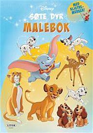Malebok Disney Søte Dyr Med Klistremerker