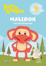 Malebok Fantorangen Med Klistremerker