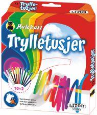 Tusjer Malekatt Trylletusjer 10 + 2 Stk