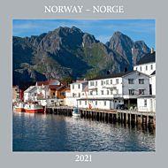 Kalender 2021 30x30cm Norge