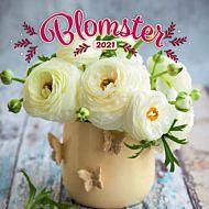 Kalender 2021 18x18cm Blomster