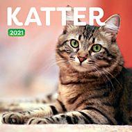 Kalender 2021 18x18cm Katter