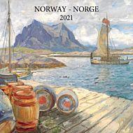 Kalender 2021 18x18cm Norke Kunstnere
