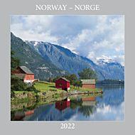 Kalender 2022 Norge 18X18cm