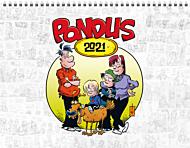 Veggkalender 2021 Pondus A4 m/spiral Måned