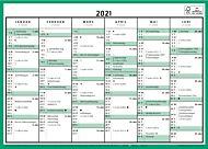Veggkalender 2021 Kontorkalender enkel A4
