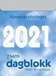 Veggkalender 2021 7.sans Dagblokk liten A6 Limt