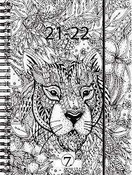 7.sans Kalender 21/22 Dagplan ZENart A6