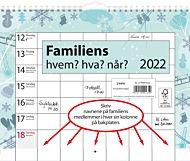 Familiens Hvem Hva NÃ¥r Kalender 2022