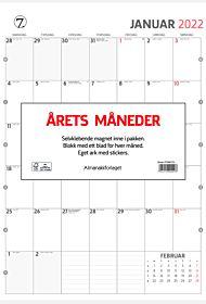 Kalender 2022 Årets måneder