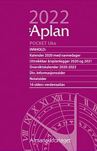 Aplan Kalender 2022 Pocket Uke årssett