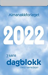 7.Sans Kalender 2022 Dagblokk stor