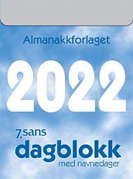 7.Sans Kalender 2022 Dagblokk liten