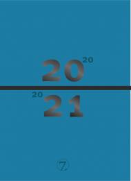 Kalender 7.sans Studentdagbok A5 Blågrønn 20/21