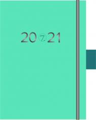 Kalender 7.sans Studieplan A6 Turkis 20/21