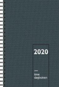 7.Sans Timedagboken Spiralisert Grå 2020