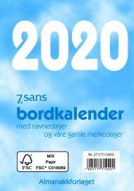 7.Sans Bordkalender Bokmål 2020