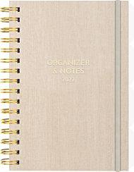 Kalender 2022 Leo Organizer & Notes A5 uke beige