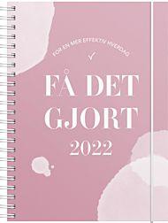 Kalender 2022 FÃ¥ det gjort A5 uke rosa
