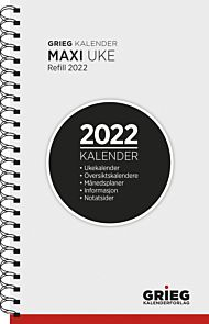 Kalender 2022 Maxi refill uke