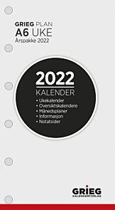 Kalender 2022 A6 Ã…rspakke uke