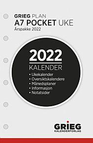 Kalender 2022 A7 Ã…rspakke uke