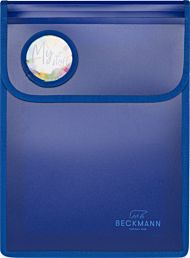 Mappe Med Borrelås A4 Blue Beckmann
