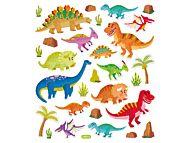 Klistremerker Dinosaurer m glitter