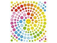 Klistremerker Smileys 2 med glitter