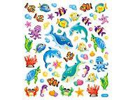Klistremerker Fisker med glitter