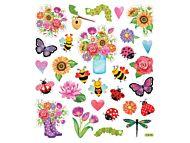 Klistremerker Blomster og Insekt