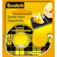 Tape Scotch dobbeltsid. 12mmx6m m/disp