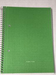 Spiralhefte A5 Rut. 70Bl 70G Grønn