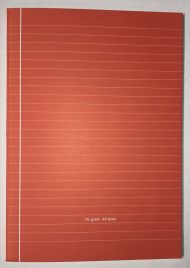 Kladdeblokk A4 Linj.  100Bl 60G Rød