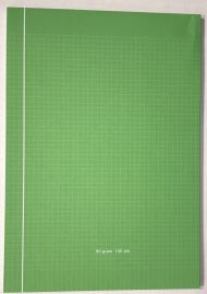 Kladdeblokk A4 Rut. 100Bl 60G Grønn