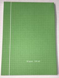 Kladdeblokk A5 Rut. 100Bl 60G Grønn