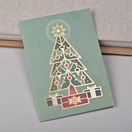 Julekort christmas tree