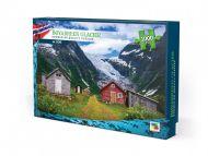 Puslespill 1000 Bøyabreen Glacier Norge