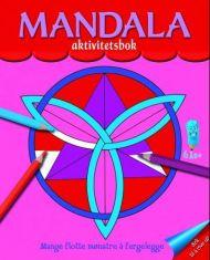 Mandala aktivitetsbok. Fargeleggingsbok med mandalamønstre. Fra 6 år