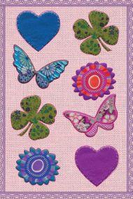 Stickers Hjerter Og Sommerfugler