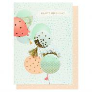 Systemkort Happy Birthday Balloons Tassel