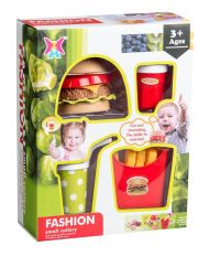 Hamburger Sett i Plastikk