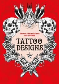Tattoo designs. Kreativ fargelegging for voksne