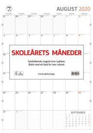 Veggkalender Skoleårets Måneder 2021