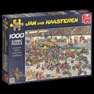 Puslespill 1000 Motorbike Race Jan van Haasteren