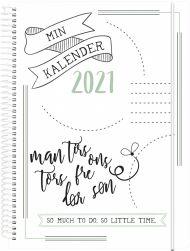 Kalender 2021 Doodle Ii A5 Uke