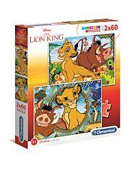 Puslespill 2X60 Lion King Clementoni