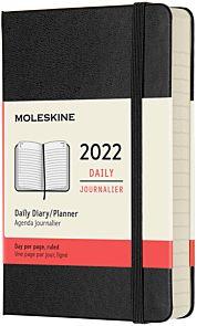 Kalender Moleskine 2022 12m Pocket Dag Sort