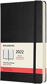 Kalender Moleskine 2022 12m Large Dag Sort