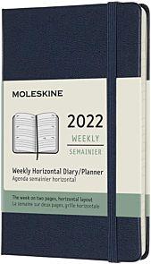 Kalender Moleskine 2022 12m Pocket Uke Blå